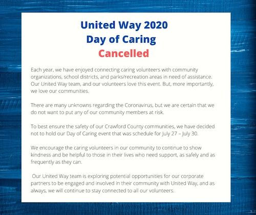 day of caring cancelled